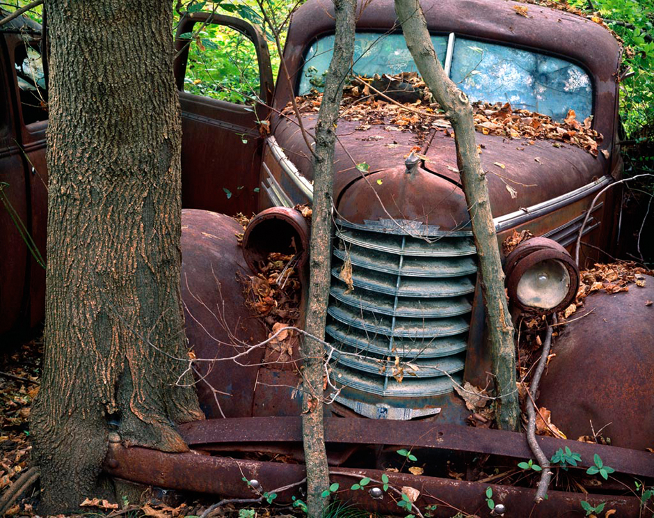 http://www.richardsprengeler.com/old-car-in-tree/