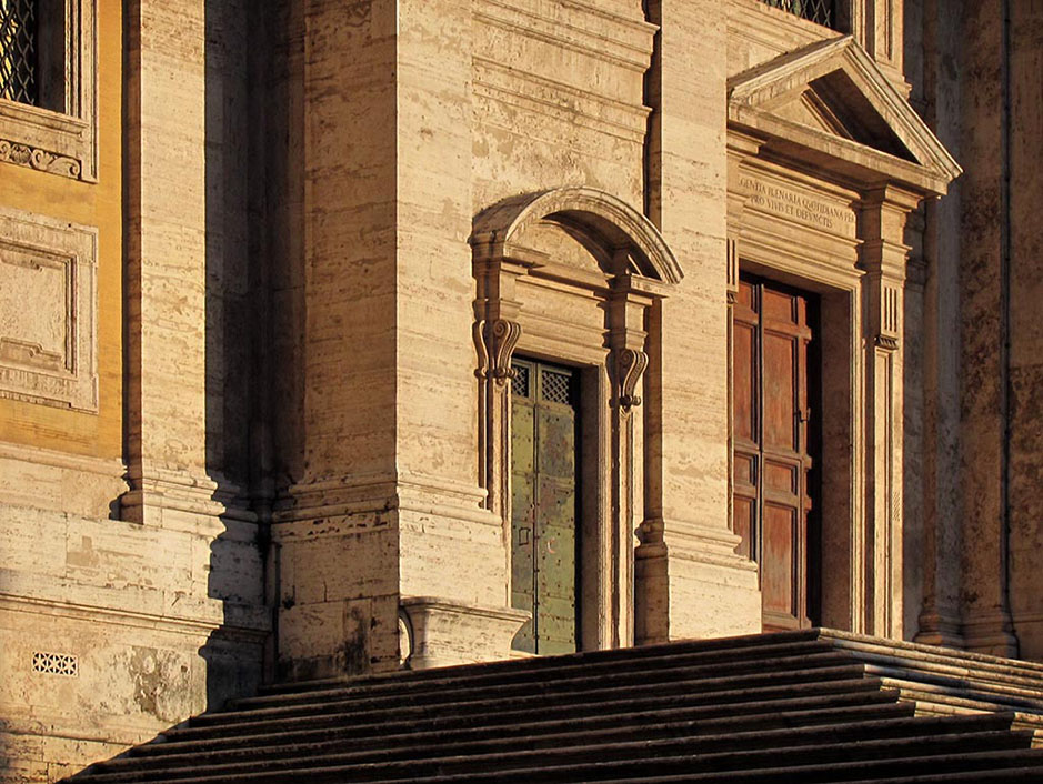 http://www.richardsprengeler.com/church-facade-sunset-rome/