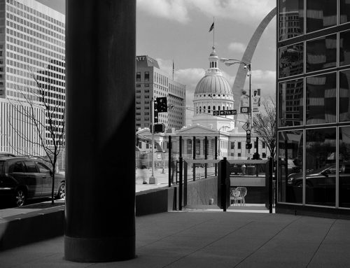 The Old Courthouse and the  Arch From the Laclede Gas Building