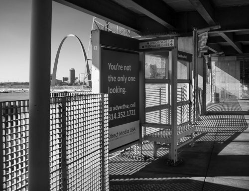The Arch From East Riverfront Metro Station, 2018