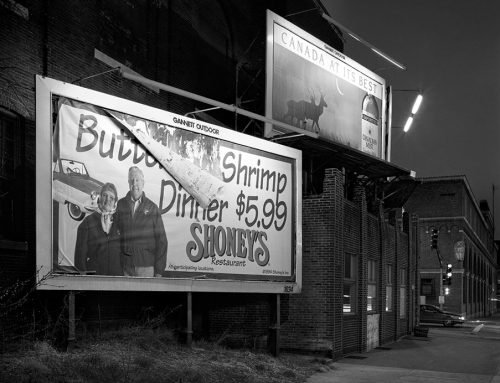Billboards, Tucker and Clark Streets, Night, 1996