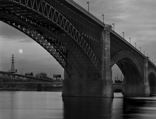 Moonrise, Eads Bridge, 2017
