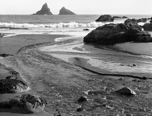Beach and Stream, Oregon Coast
