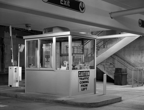Parking Booth, Stadium Garage West, Night, 1988