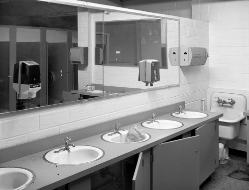 Restroom, Checkerdome Before Implosion, 1999