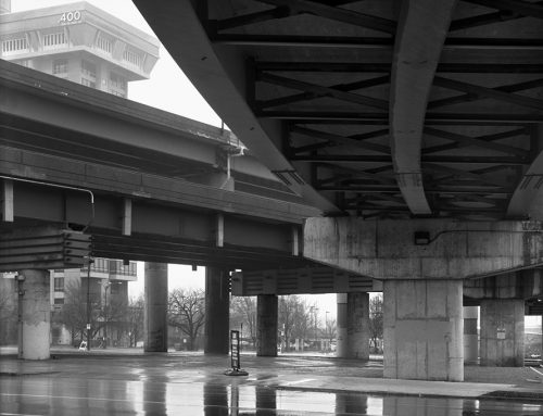 6th Street Ramp, Approaches to the Poplar Street Bridge, Rain, 2019