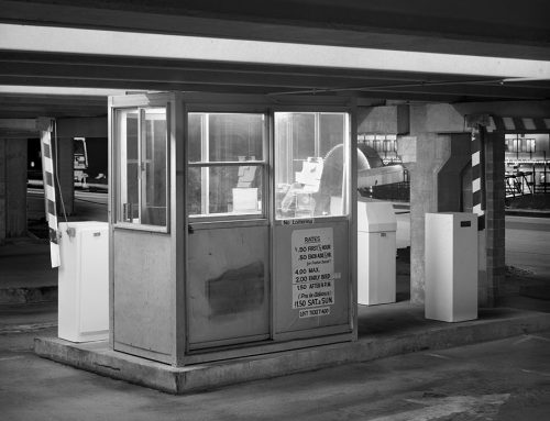 Parking Garage Booth, Riverfront Garage, Night, Laclede's Landing, 1986