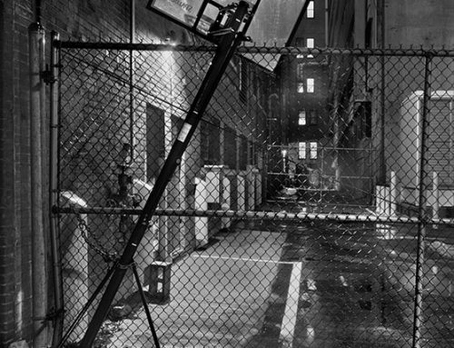 Alley Near 11th and Locust, Night, Rain, 2020