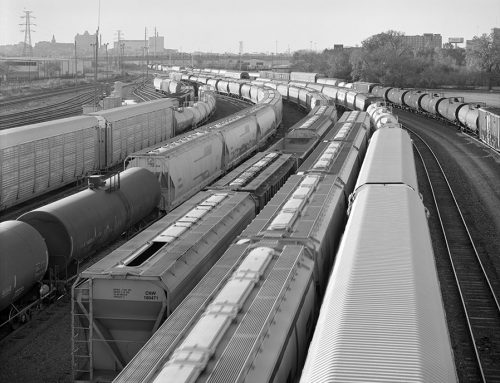 Railroad Yard From the 18th Street Overpass, 2020
