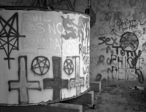 Graffiti, Abandoned Nuclear Processing Facility, Near Defiance, Missouri, 1989